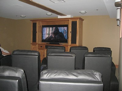 movie theatre and media room