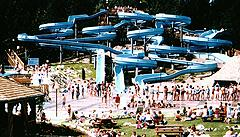 water sliding at cultus lake water park