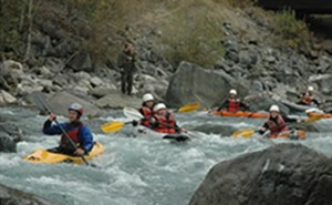 white water river kayaking